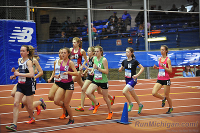 Girls' 2 Mile Emerging Elite, Michigan Only - 2014 NB Indoor Nationals