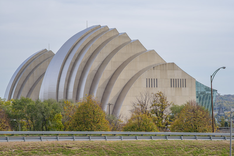 Kauffman Center, from across the highway