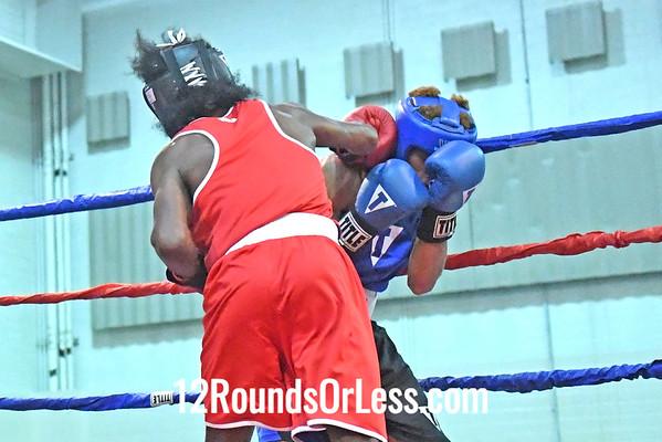 Bout #15: Derrick King, Red Gloves vs Vinnie Austin, Blue Gloves, 2 min. rds.