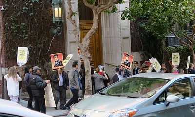 Bohemian Club Protest