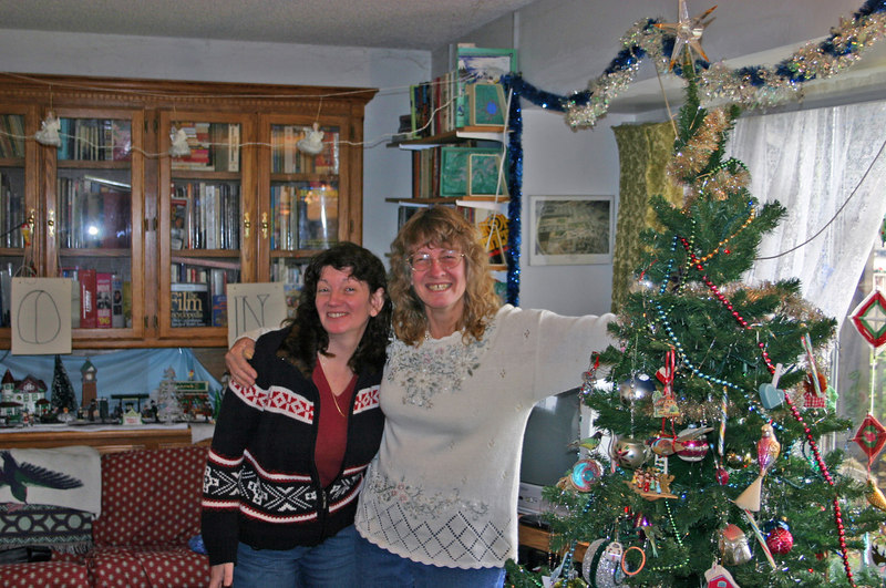 linda and ellen and tree