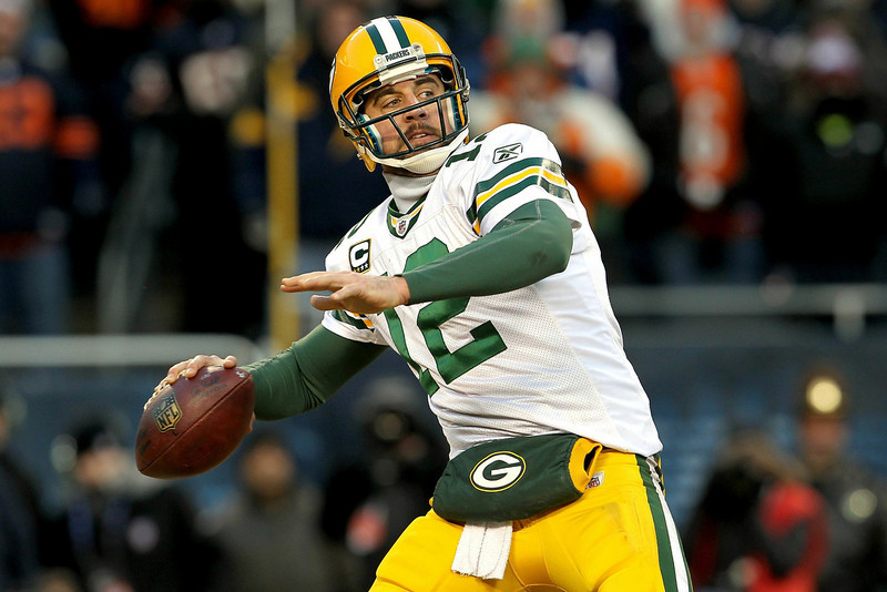 . Aaron Rodgers, California Selected 24th overall by the Packers in 2005 Rodgers has done his best to make the 49ers regret not taking him in 2005. In five seasons as the Packers� starting quarterback, Rodgers has been named a Pro Bowler three times, a first-team All Pro once, and was named MVP of Super Bowl XLV. He is 52-26 in 78 career starts with 171 touchdowns and just 46 interceptions. GRADE: A+. Thanks to him, young backup quarterbacks around the league (see: Kevin Kolb, Kellen Clemens, Matt Flynn) will always be held to unrealistic standards when they finally land a starting role. Call it the Aaron Rodgers Rule. (Photo by Jamie Squire/Getty Images)