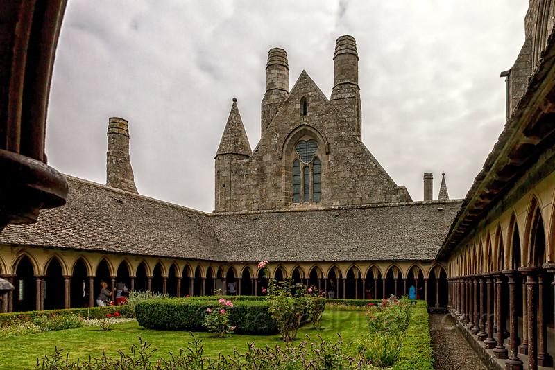 Cloister Garden of Mont St Michel Abbey
