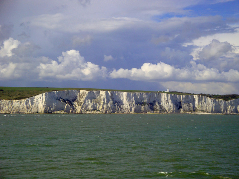 Finally the coach came, and the return trip. Here are the white cliffs of Dover once again.