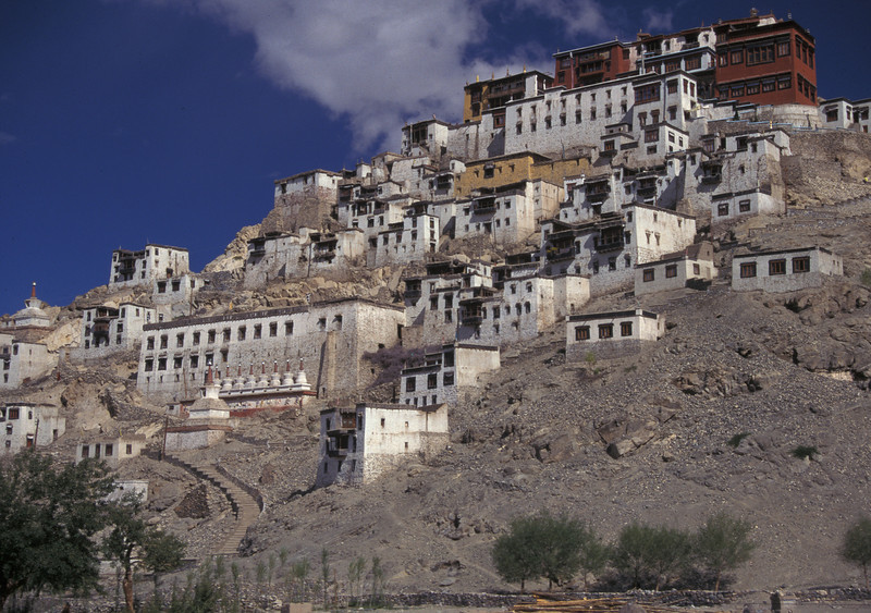 1995 photo of Thiksey Gompa