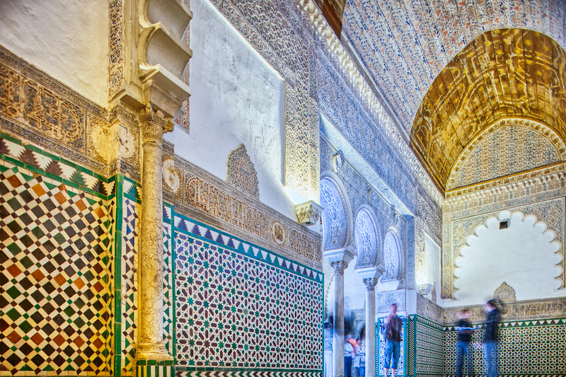 Sala de los Pasos Perdidos, Alcoba Real, Real Alcazar, Seville, Spain.