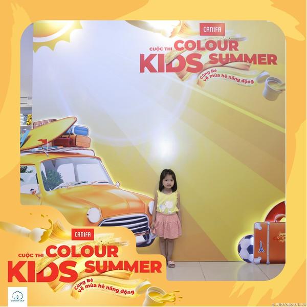 Canifa - COLOUR KIDS SUMMER activation photobooth @ Aeon Mall Long Bien - in ảnh lấy ngay Sự kiện tại Hà Nội; - Photobooth Hanoi