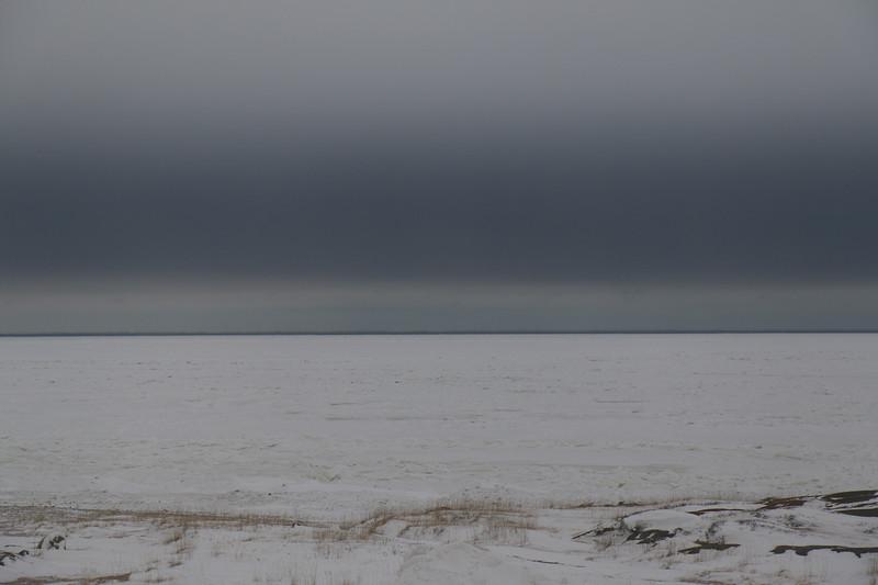 Hudson Bay from the Churchill community center