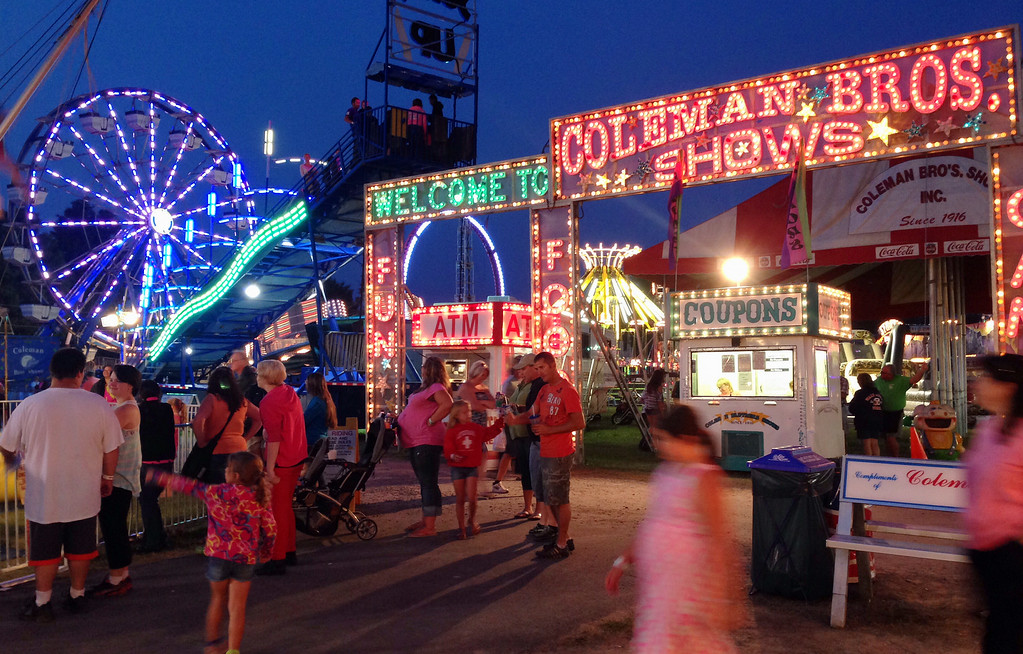 . A section of the midway  at the Boonville Oneida County Fair on Friday July 25, 2014. JOHN HAEGER-ONEIDA DAILY DISPATCH @ONEIDAPHOTO ON TWITTER