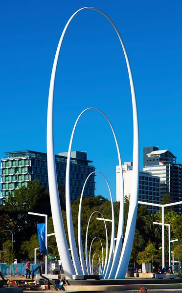 Spanda sculpture in Elizabeth Square.
