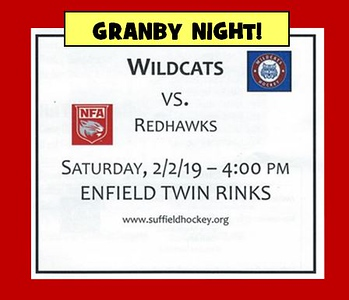 2019_02_02 Wildcats vs Redhawks GRANBY NIGHT