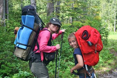 Skihawks Backpack Trip Lake Kelcema