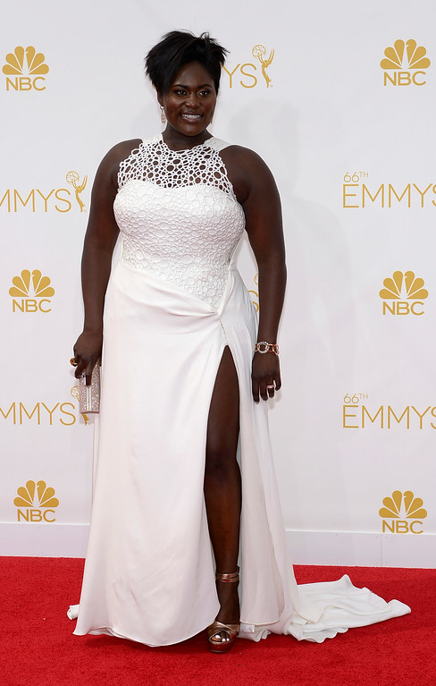 . Danielle Brooks on the red carpet at the 66th Primetime Emmy Awards show at the Nokia Theatre in Los Angeles, California on Monday August 25, 2014. (Photo by John McCoy / Los Angeles Daily News)