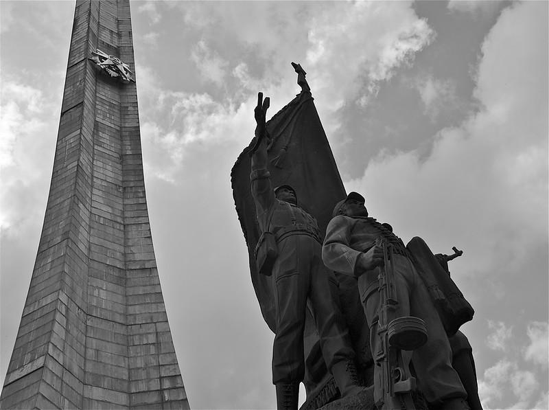 COMMUNIST MONUMENT STILL SATANDING IN ADDIS FROM THE DERG YEARS.