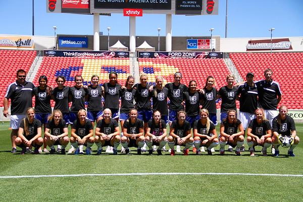 Real Salt Lake Women vs Phoenix Del Sol 6-8-2013