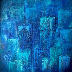 """Somewhere Deep Inside"" (acrylic on canvas) by Natalia Ershova"