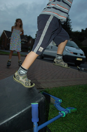 George, Samuel and Lewis on the ramps