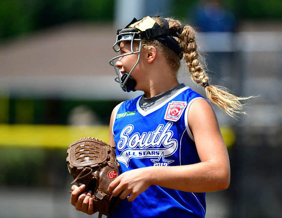 7/25/2019 Mike Orazzi | Staff Pennsylvania's Lynna Clark (23) during the Eastern Regional Softball Tournament at Breen Field in Bristol on Thursday.