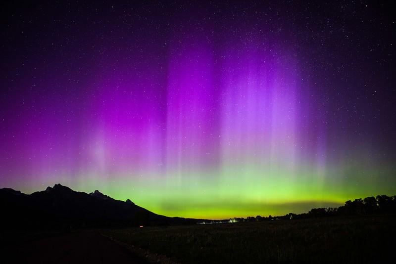 Northern Lights, Teton Range, Wyoming. 2015