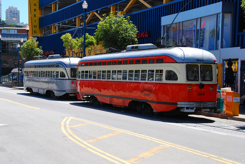 A couple of SF's lovely streetcars.