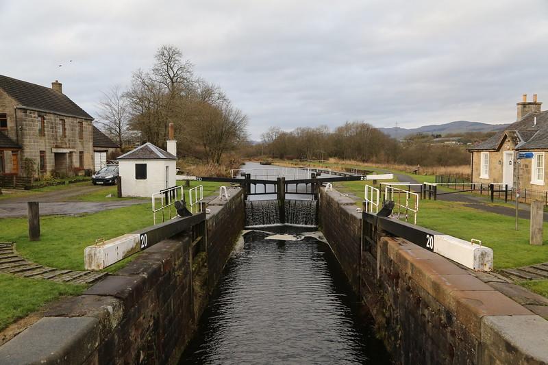 Lock 20 looking west at Banknock