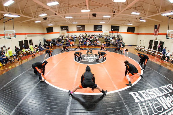 NDHS Wrestling vs Mt Tabor 2014