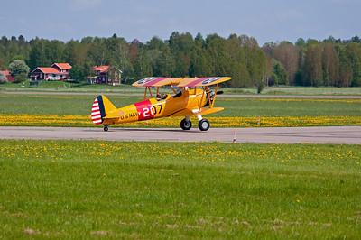 Scandinavian Air show from Hasslo airport and Dala-Jarna airport.