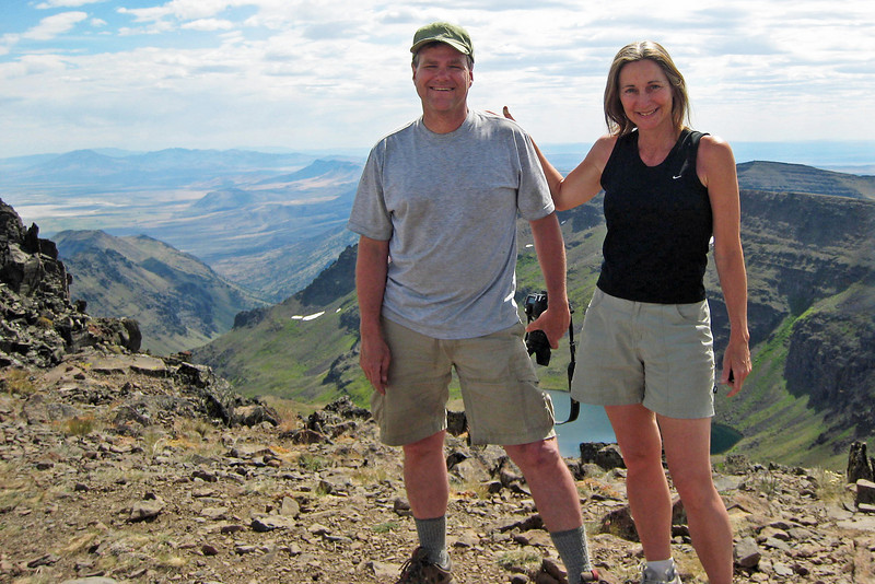 Here we are...the happy vacation couple on the top of the Steens.     The End.