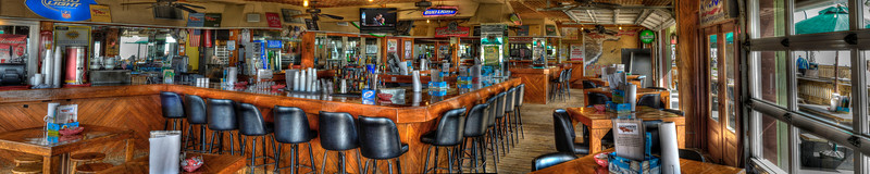 Panorama view of the interior of Oceanfront Bar & Grill on the Boardwalk in Myrtle Beach, SC on Saturday, March 10, 2012. Copyright 2012 Jason Barnette