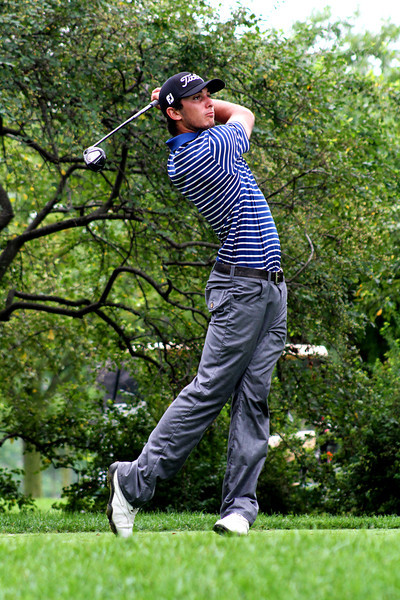 Max Homa of Valencia, Calif., teeing off in the second round Wednesday.