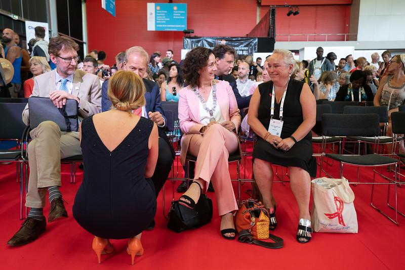 22nd International AIDS Conference (AIDS 2018) Amsterdam, Netherlands.   Copyright: Matthijs Immink/IAS  Global Village Opening  Photo shows: Mayor of Amstterdam Femke Halsema