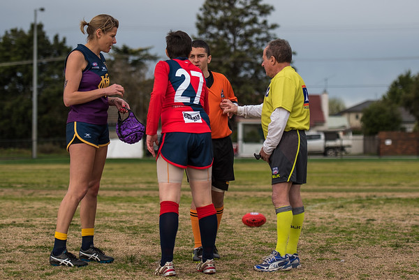 Coburg v Melbourne - 2018 Monarch Women's AFL Masters Victorian Metropolitan Superules Round 4 Game 3