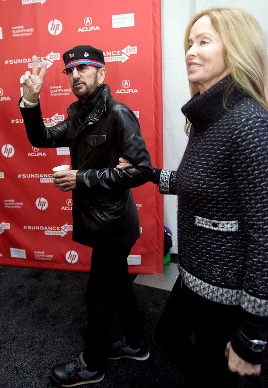 ". Kim Raff  |  The Salt Lake Tribune Ringo Starr is photographed with his wife Barbara Bach on the red carpet for the premiere of ""Emanuel and the Truth About Fishes\"" at the Park City Library Center during the Sundance Film Festival in Park City on January 18, 2013."