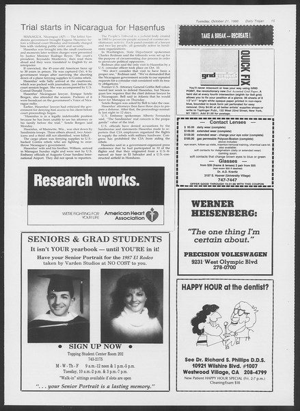 Daily Trojan, Vol. 102, No. 36, October 21, 1986