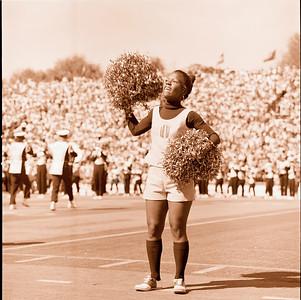 WVU vs Indiana Homecoming Cheerleaders and Crowd October '73