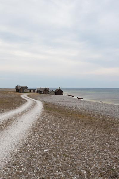 Sweden, Gotland, Fårö: Helgumannen fishing village.