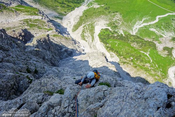 Bayerländerweg alpine climbing, Allgäu 2015