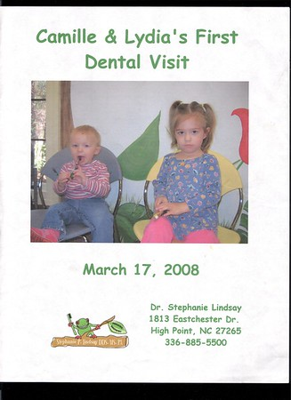 Dental visit 1st - Lydia and Camille