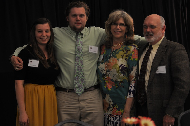 SGA hosts Senior Pinning in the LYCC on April 1st, 2012. Family and friends of the seniors came to show their love and support for their seniors. Spencer Graybeal with his girlfriend and parents.