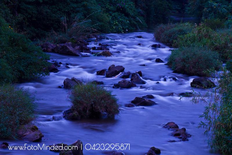 River across Munnar Town, India