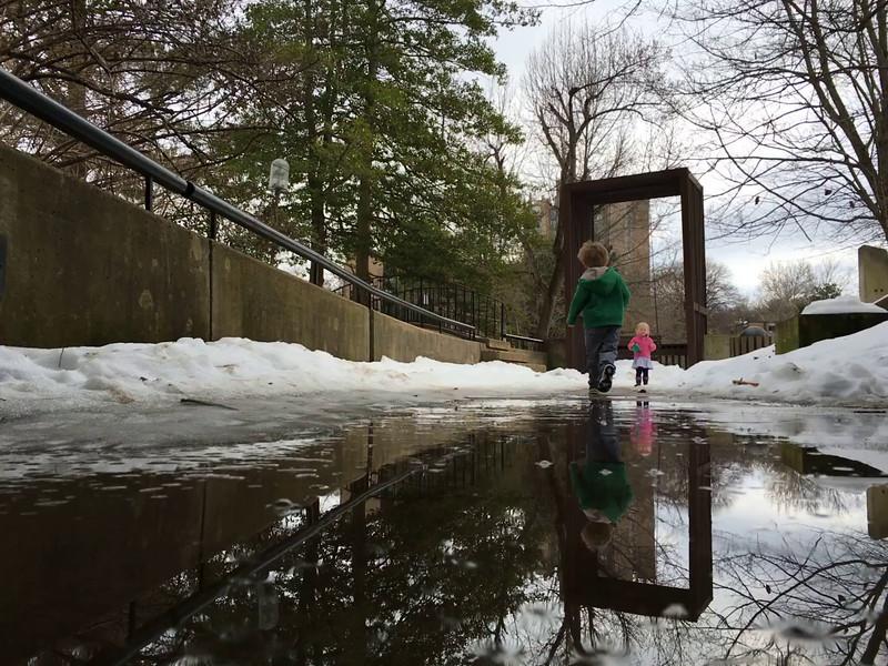 20160201 029 Morning walk in the melting snow.MOV
