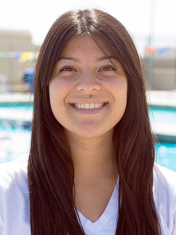 . Vanessa Solano of Los Osos High School has been named to The Sun\'s All-Valley Girl\'s water polo team. Photo by Frank Perez, for The Sun.