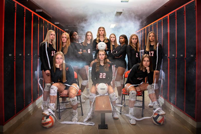 White Bear Lake Volleyball Portraits 2021