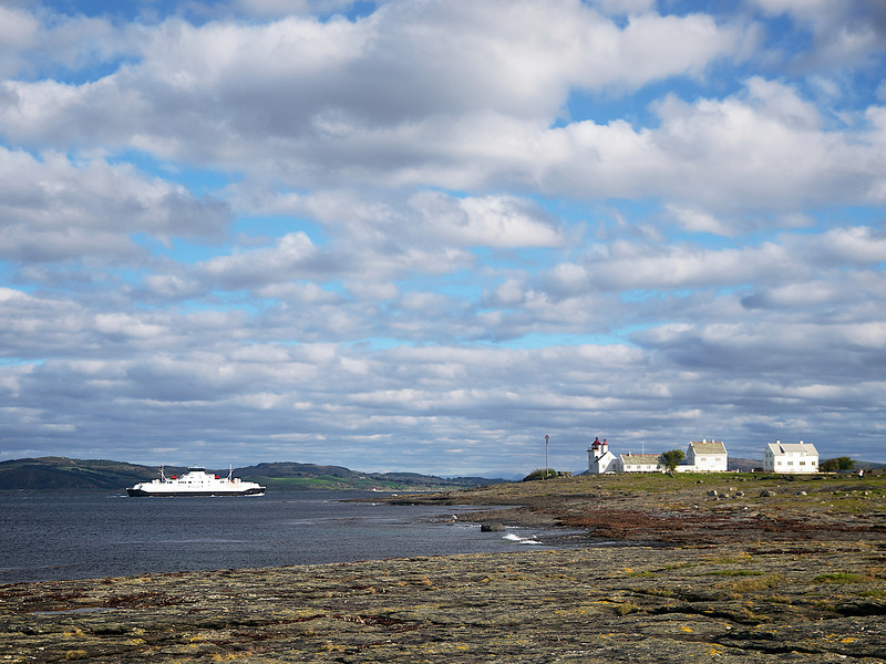 Ferge mot land - Foto: Geir