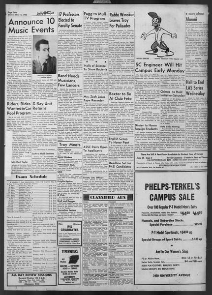 Daily Trojan, Vol. 43, No. 136, May 16, 1952