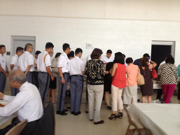 International Cadets attend Elim Korean Baptist Church