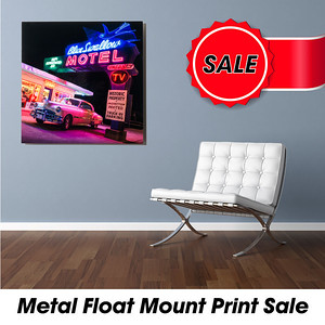 Pics On Route 66 Fine Art Float Mount Sale
