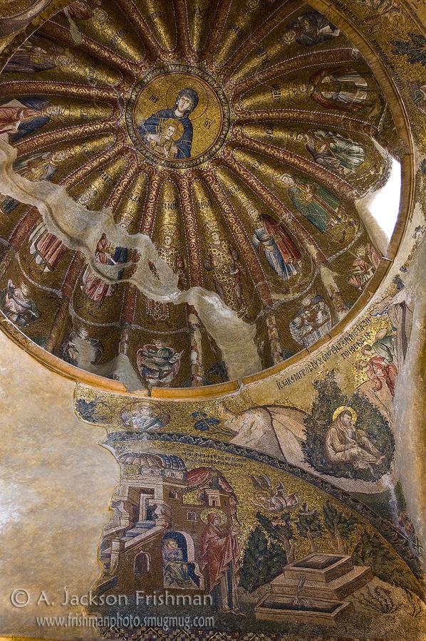 Dome in Chora Church, Istanbul.