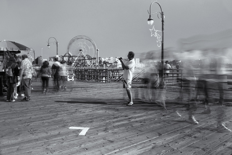 Photographer on Pier