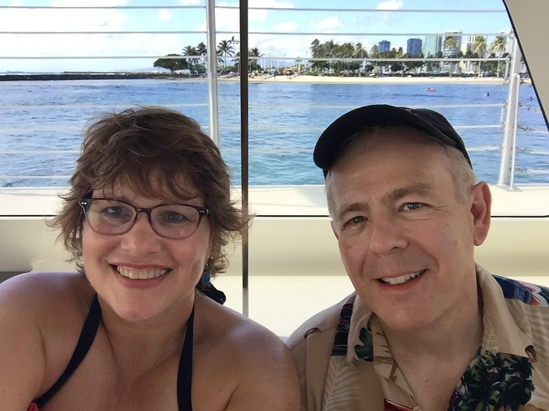 On our catamaran excursion - 11/12/2018